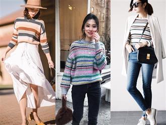 Nếu hỏi item nào trẻ trung và dễ mặc nhất trong mùa lạnh thì câu trả lời chính là áo len kẻ