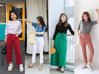 Nếu mùa hè chỉ diện quanh quần vải và shorts thì sang thu các nàng tha hồ hoàn thiện phong cách với 5 kiểu quần này