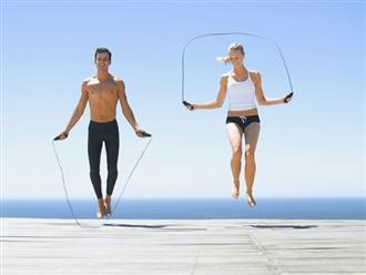 Nhảy dây giúp đốt cháy calo nhiều hơn chạy xe đạp
