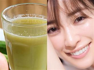 Ép dưa leo và táo lấy nước uống mỗi ngày, da trắng mịn, trẻ hóa hiệu quả hơn viên collagen