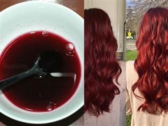 Phù phép mái tóc đen-mỏng-xơ rối thành đỏ-dày-mượt mà đẹp miễn chê chẳng tốn xu nào từ 1 củ dền đỏ