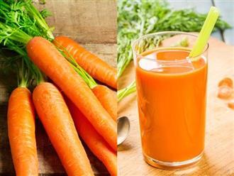 Uống 1 ly nước ép cà rốt mỗi ngày, bạn sẽ sở hữu làn da và vóc dáng hoàn hảo sau thời gian ngắn