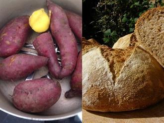 Thay phiên ăn khoai lang và bánh mì vào buổi sáng liên tiếp trong 7 ngày, cô gái giật mình thấy đầu tuần 55kg cuối tuần còn đúng 45kg