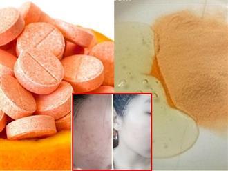 Dùng Vitamin C dưỡng da theo cách này, mụn chi chít khắp mặt dai dẳng cỡ nào cũng trị dứt