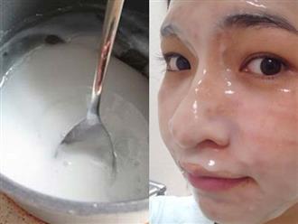 Trộn sữa chua với nước muối thế này, da không những trắng hồng mà sẹo thâm, nám cũng sạch bong một đi không trở lại