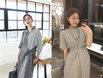 Trong loạt kiểu váy kẻ đang hot dịp đầu hè 2018, váy sơ mi vẫn là món đồ dễ mặc và luôn đẹp