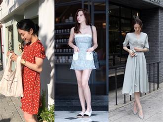 Trong những ngày hè nắng gắt, váy chính là món đồ chiếm ưu thế trong street style của các quý cô Châu Á