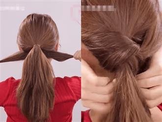 Tự làm 3 kiểu tóc đuôi ngựa cho mấy ngày Tết, diện cùng váy cũng đẹp mà diện với áo dài cũng xinh