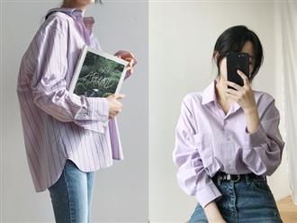 """Tưởng sến mà lại xinh bất ngờ, sơ mi màu tím lavender dễ trở thành chiếc áo """"hot"""" nhất mùa xuân này mà bạn nên để mắt tới"""