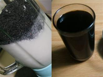 Muốn da trắng mịn, dáng thon gọn như hotgirl, hãy uống 1 ly nước mè đen rang mỗi ngày