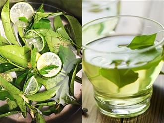 Nấu nước lá trà xanh với chanh để uống giúp đốt cháy mỡ bụng và giảm cân 'siêu' nhanh
