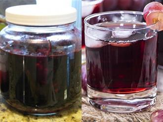 Tự làm rượu vang nho tại nhà rồi uống 1 ly trước khi đi ngủ, điều kỳ diệu sẽ đến sau 1 tuần