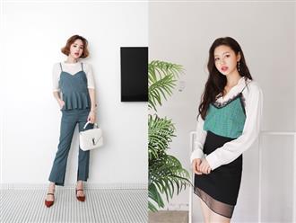 Váy/áo hai dây – những items chống chỉ định mặc đến nơi công sở nay đã có cách diện sao cho chỉn chu và thanh lịch