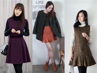 Không biết mặc gì khi trời trở lạnh, học ngay cách phối váy mùa đông chuẩn Hàn Quốc này