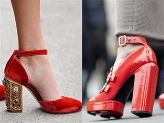 Xu hướng giày gót vuông khuynh đảo làng thời trang