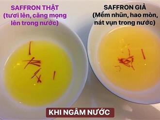 Mẹo hay cần nhớ để phân biệt saffron thật - giả