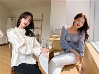 Kiểu áo blouse 'bánh bèo chúa' giúp bạn gái ghi điểm tuyệt đối vì xinh đẹp, thời thượng như tiểu thư