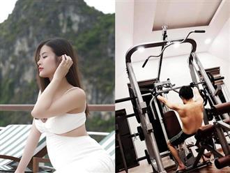 Đông Nhi tiết lộ lý do đằng sau của việc ông xã hì hục tập gym những ngày này