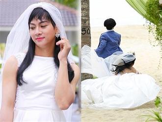 Hoài Lâm xinh đẹp ngã sấp mặt trong bộ váy cưới còn bị tát liên tục