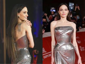 Angelina Jolie nối tóc cẩu thả trên thảm đỏ LHP Rome 2021, cộng đồng fan rần rần đòi sa thải hair stylist