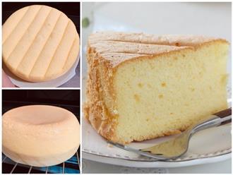 'Bách phát bách trúng' với công thức siêu chuẩn giúp làm bánh bông lan đơn giản bằng nồi cơm điện