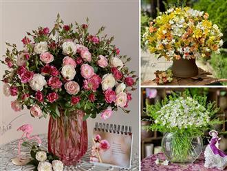 Học ngay cách cắm hoa đẹp như tranh vẽ nhờ cách mix hoa 'thần thánh' của chị đẹp Quảng Ninh