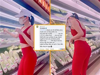 Khoe vòng 3 'căng tức' khi đi siêu thị, Lệ Quyên bị chỉ trích thậm tệ đến mức tức giận, phải dọa tát antifan