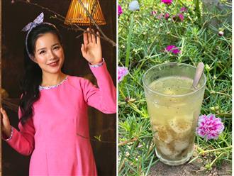 MC VTV Trang Moon chia sẻ cách làm trà vải hạt chia siêu đơn giản, đảm bảo 100% thành công