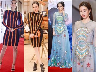 Cuối năm, nhiều mỹ nhân Việt 'đụng hàng' váy áo chan chát