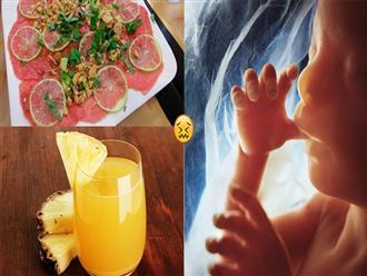 11 thói quen và 5 thực phẩm dễ gây SẢY THAI, mẹ bầu thương con thì bỏ ngay nhé