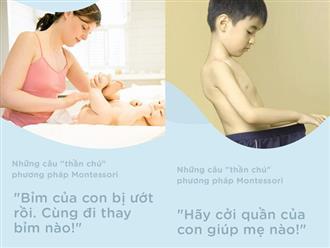 """8 câu """"thần chú"""" từ phương pháp Montessori dạy bé đi vệ sinh dễ dàng"""