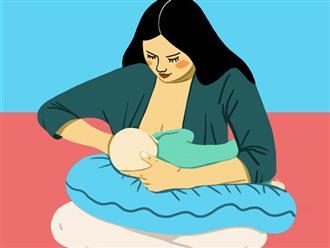 8 tư thế giúp mẹ cho con bú dễ dàng nhất