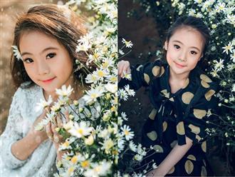 Bộ ảnh bé gái Hà Nội chỉ cười mỉm vẫn xinh xuất sắc