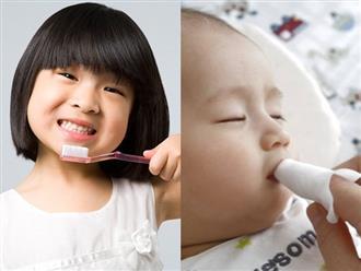 Để chải răng cho bé đúng cách, bác sĩ Nha khoa lưu ý mẹ những điều này