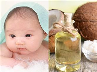 Công dụng của dầu dừa đối với trẻ sơ sinh mẹ đừng bỏ qua