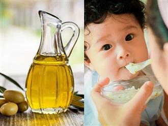 Công dụng của dầu ô liu đối với trẻ em không phải mẹ nào cũng biết
