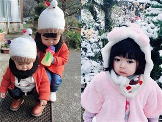 Hai chị em Việt lai Nhật cực đáng yêu trong bộ ảnh chụp dưới tuyết trắng xóa
