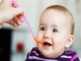 Trẻ 5 tháng tuổi nên cho ăn dặm với thực phẩm nào?