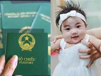 Hướng dẫn mẹ thủ tục làm hộ chiếu cho trẻ em dưới 1 tuổi