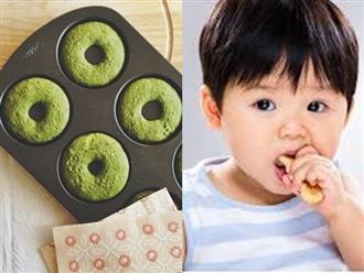 Mách mẹ cách làm bánh donut trà xanh thơm ngon, xốp mềm cho bé