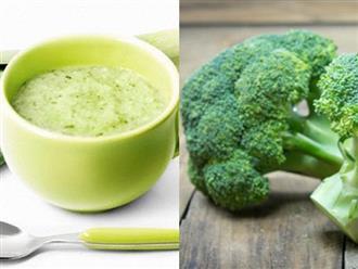 Mách mẹ những cách đơn giản chế biến món ăn dặm từ bông cải xanh cho bé