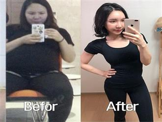 """Nặng 90 kg khi mang bầu, bà mẹ """"lột xác"""" thần kì, giảm 40kg sau sinh"""