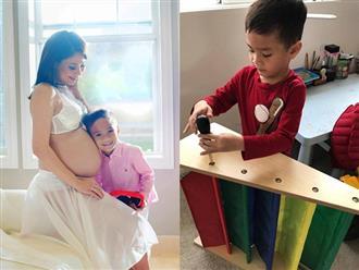 Sắp lâm bồn, Thanh Thảo vẫn không quên chăm lo dạy dỗ tốt con nuôi Jacky Minh Trí