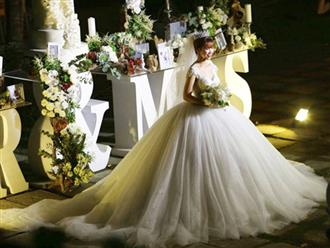 Chiếc váy to và lộng lẫy đã biến Khởi My thành công chúa trong đám cưới cổ tích với Kelvin Khánh
