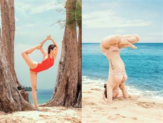 Sau tuyên bố tuyển chồng kiếm 100 triệu/tháng, Phương Trinh Jolie mặc bikini nhỏ xíu tập Yoga khiến dân tình 'nóng mắt'