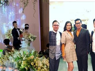 Xem loạt ảnh hiếm hoi trong đám cưới Trương Nam Thành và doanh nhân lớn tuổi có hai con riêng