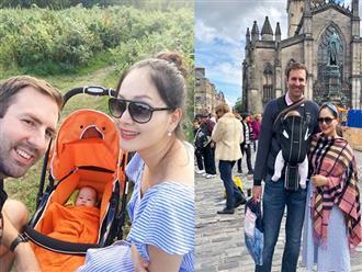 Rụng tim với loạt ảnh hạnh phúc của gia đình Lan Phương ở trời Tây