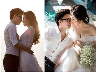 Bất chấp ồn ào với Văn Mai Hương, vợ chồng Á hậu Tú Anh tung ảnh hôn nhau đắm đuối trước thềm đám cưới