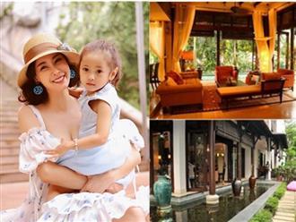 Choáng khi ngắm biệt phủ 400 tỷ đồng của vợ chồng Hoa hậu Hà Kiều Anh, rộng và sang không thua cung điện
