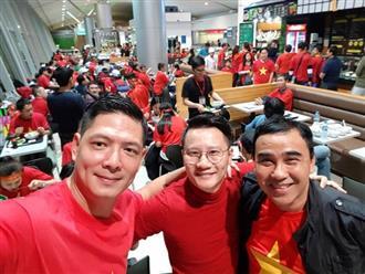 'Rụng tim' với hình ảnh sao Việt nhuộm đỏ sân bay, lên đường đi cổ vũ U23 Việt Nam